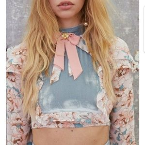 For Love and Lemons Blossom Crop Top